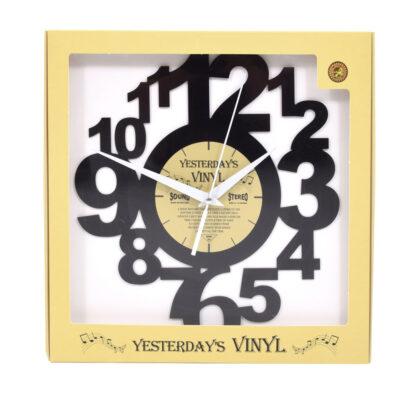 Yesterdays Vinyl Klok Cijfer Speels 30 cm