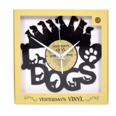 Yesterdays Vinyl Klok Hondjes 30 cm