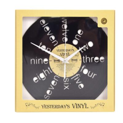 Yesterdays Vinyl Klok Geschreven Letters 30 cm
