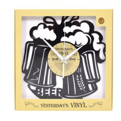 Yesterdays Vinyl Klok Proosten Met Bier 30 cm