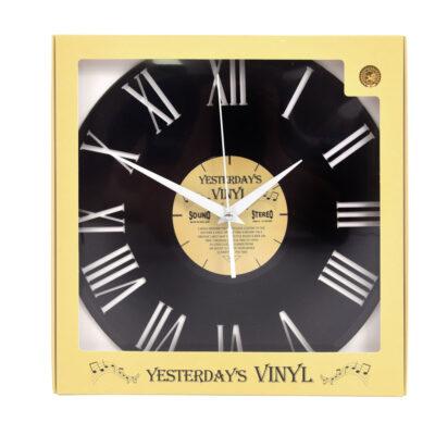 Yesterdays Vinyl Klok Cijfer Romein 30 cm