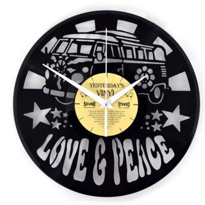 Yesterdays Vinyl Klok Love and Peace 30 cm